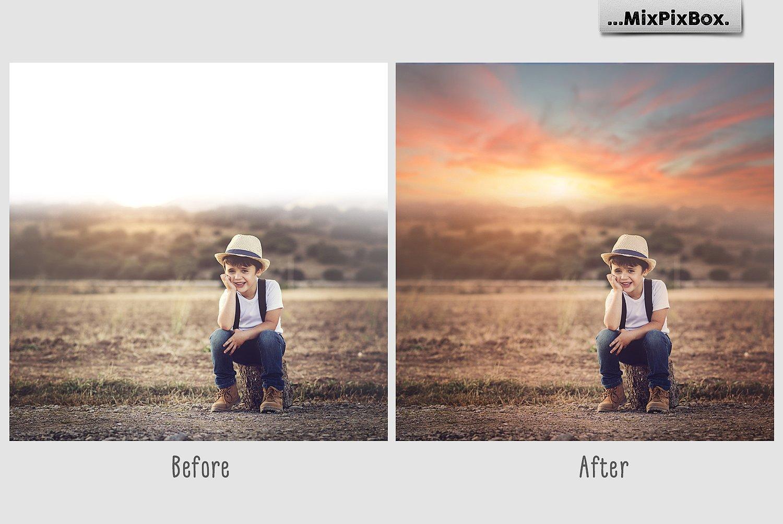 Sunset Sky Photo Overlays example image 2