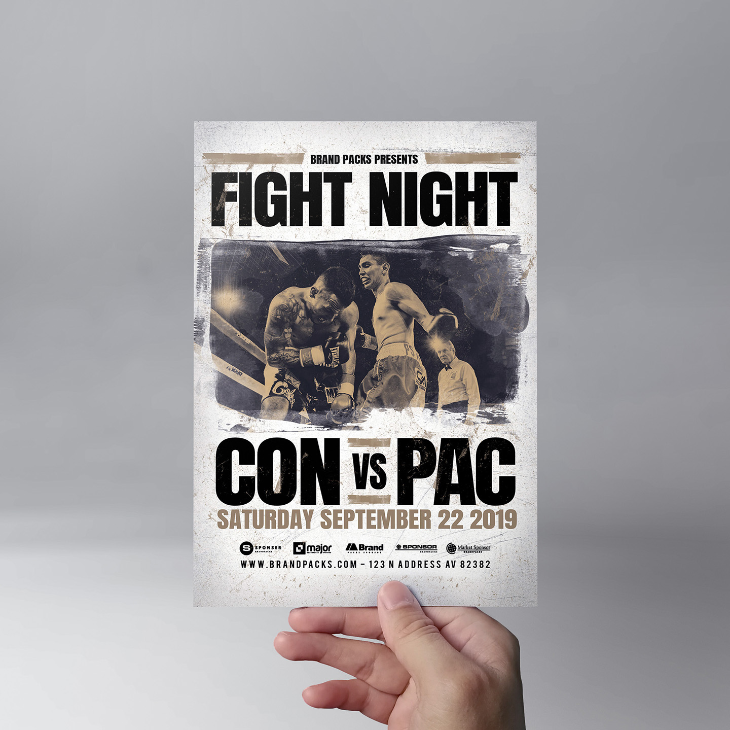 Fight Night Flyer Template example image 9