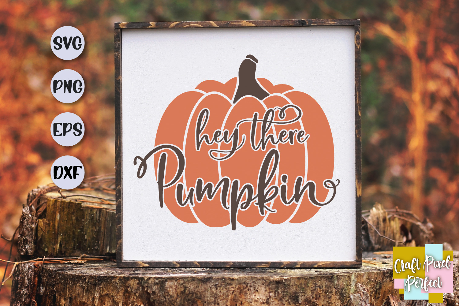 Hey There Pumpkin Svg, Fall Sign Svg, Fall Svg, Pumpkin Svg example image 1