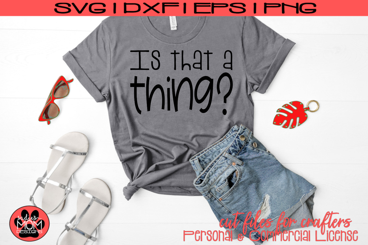 Is that a thing? | Whimsical Urban Slang | SVG Cut File example image 2