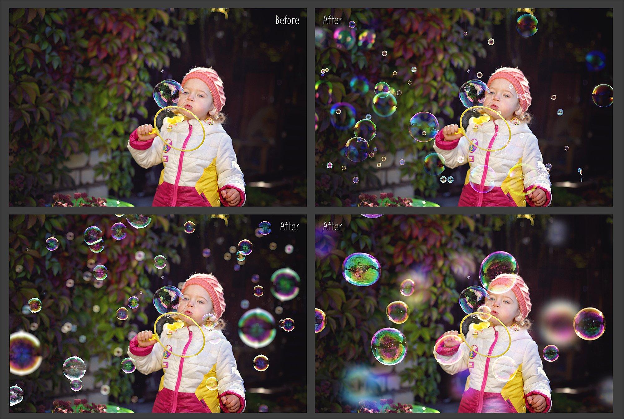 100 Bubbles Photoshop Overlays example image 4