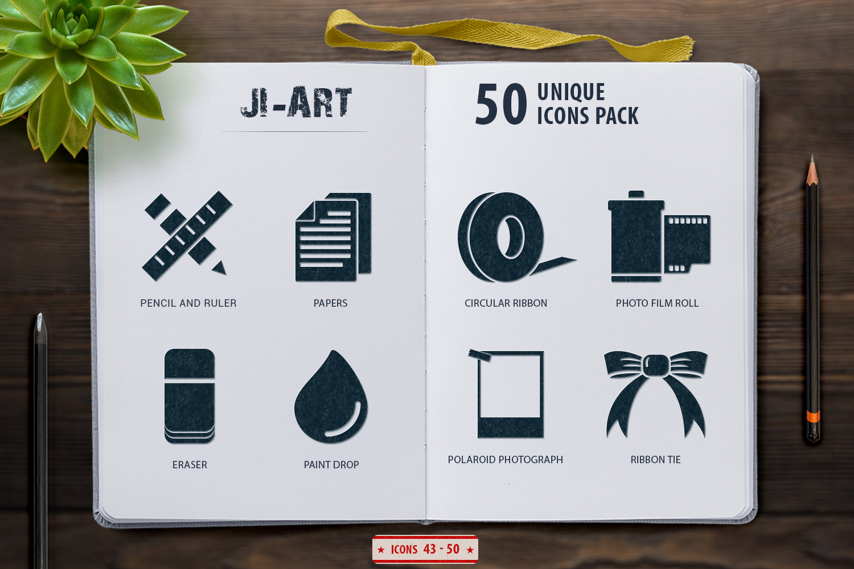 Glyph Art Icons Set example image 5