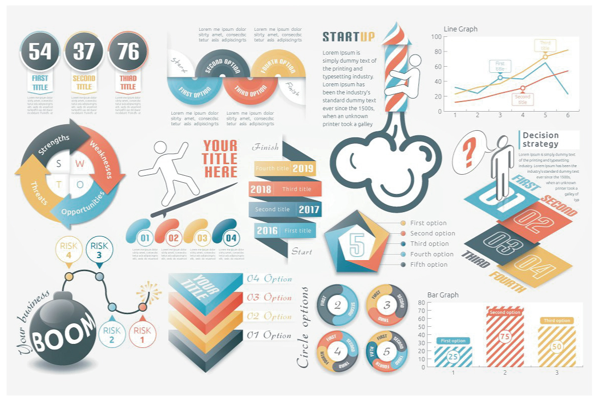 Infographic Elements Bundle (3 in 1) 1