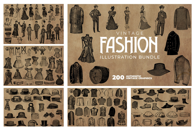 2200 Vintage Graphics Bundle example image 13