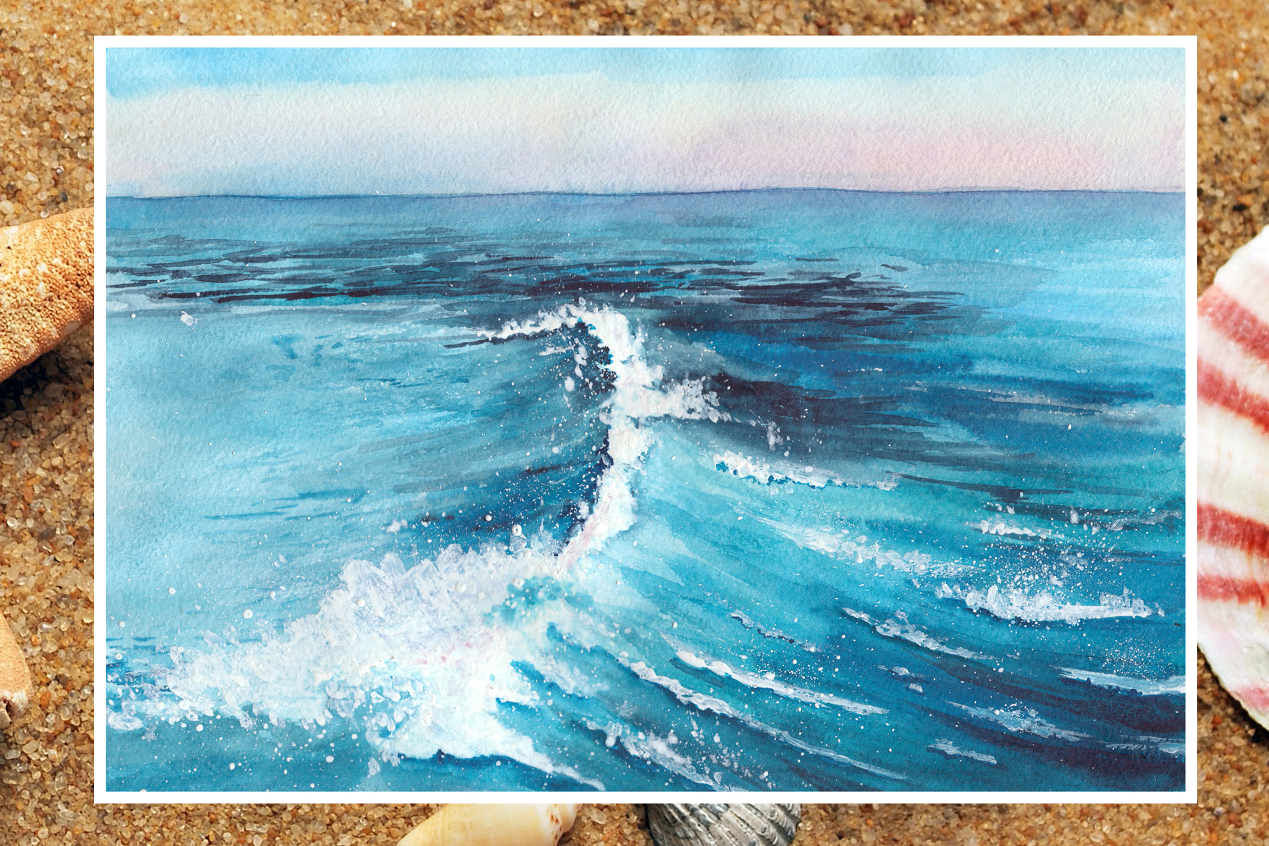 Watercolor seascapes example image 4