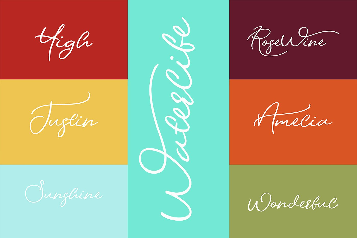 Waterlife Script Font example image 5