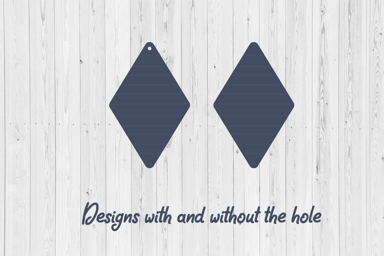 Earring digital designs   SVG cut files   Laser cut   example image 2