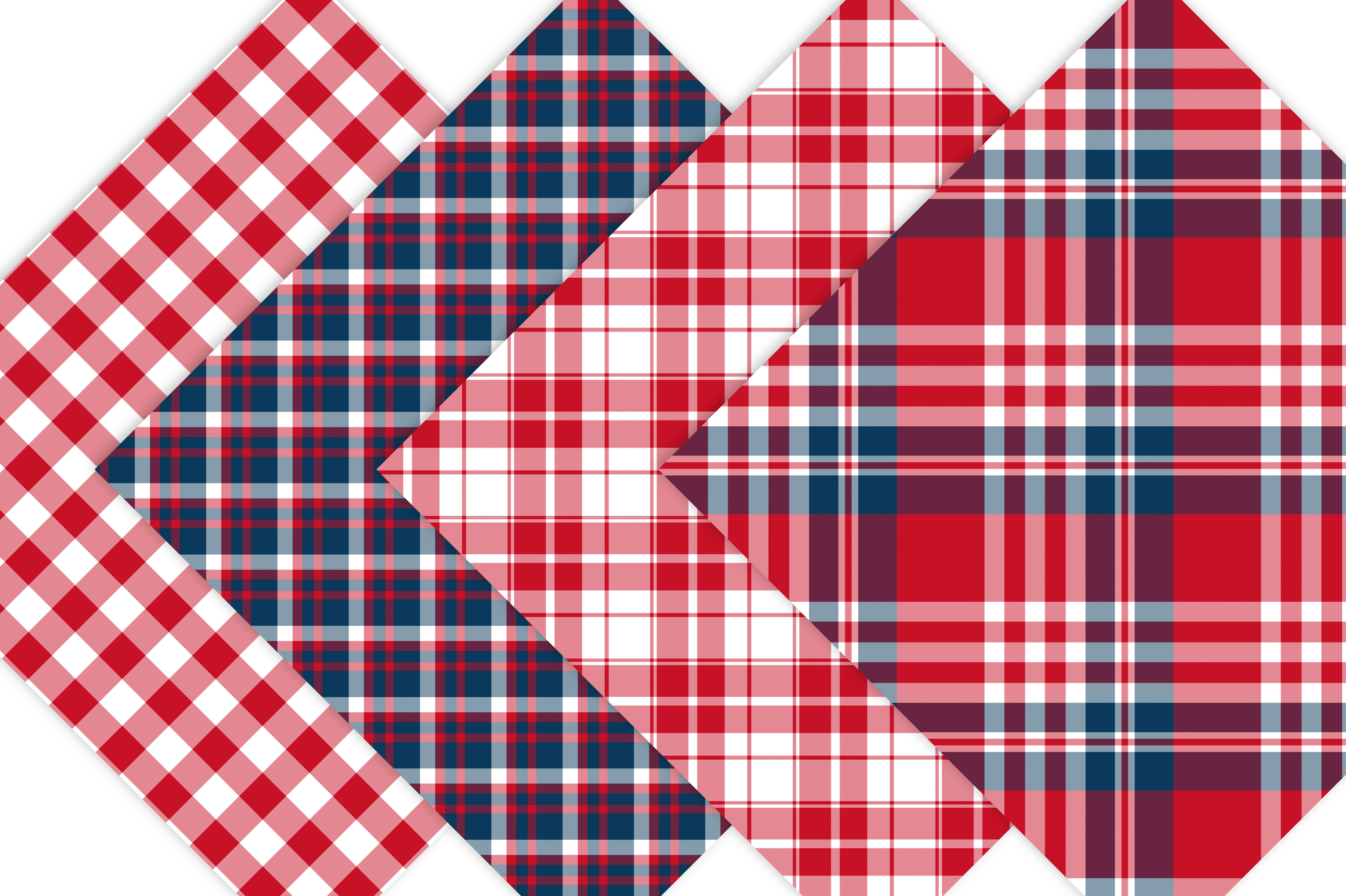 Red White and Blue Plaid Patterns (41369) | Backgrounds ...