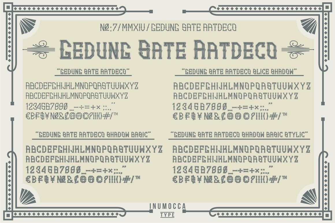 Artdeco (family font) example image 2