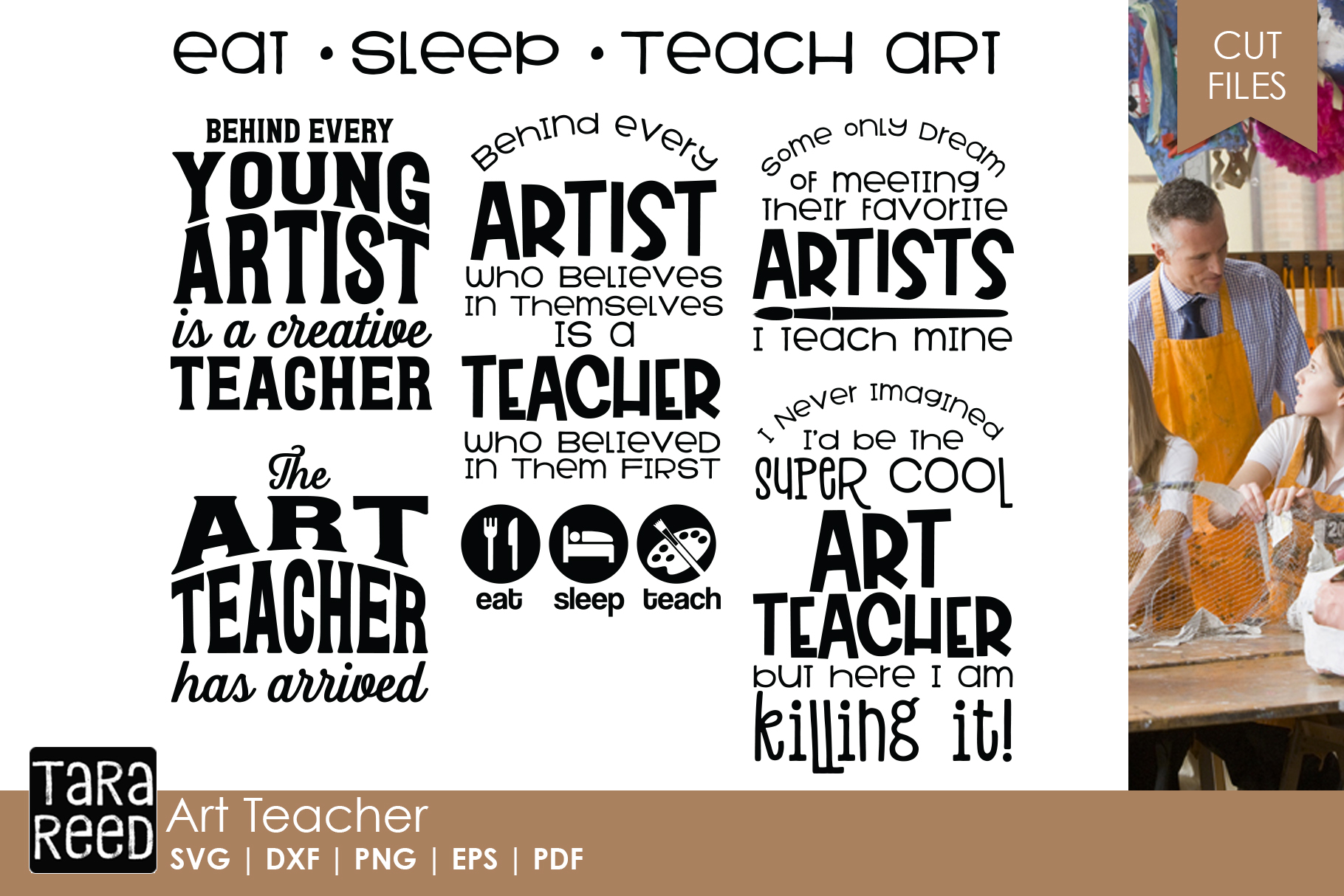 Art Teacher - Art SVG & Cut Files for Crafters example image 1