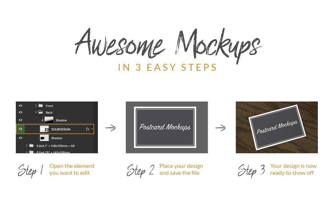 Postcard Mockup Bundle example image 3
