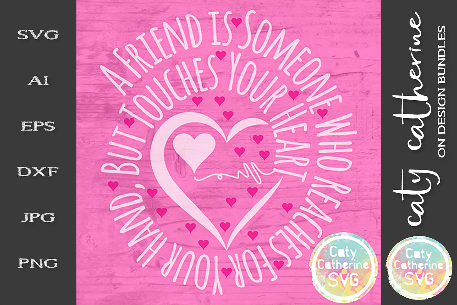 A Friend Is Someone Who Reaches For Your Hand SVG Cut File example image 1