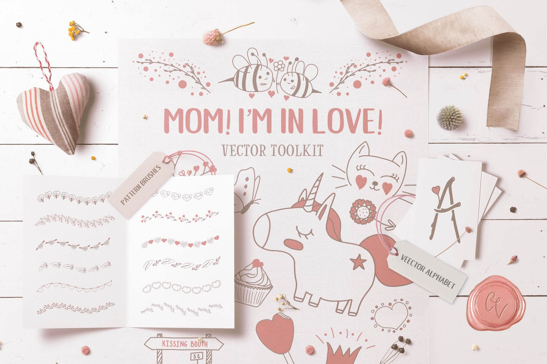Mom! I'm in Love! Vector Set example image 1