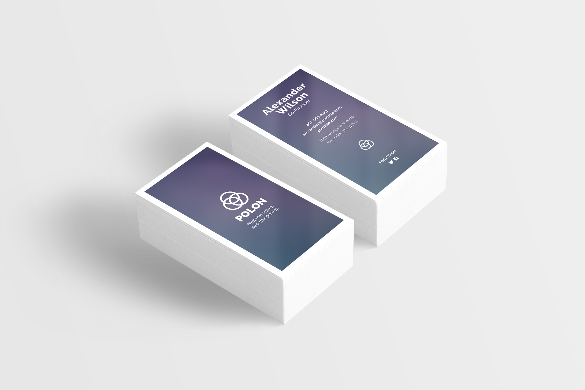 Polon - A Modern Business Card Template example image 6