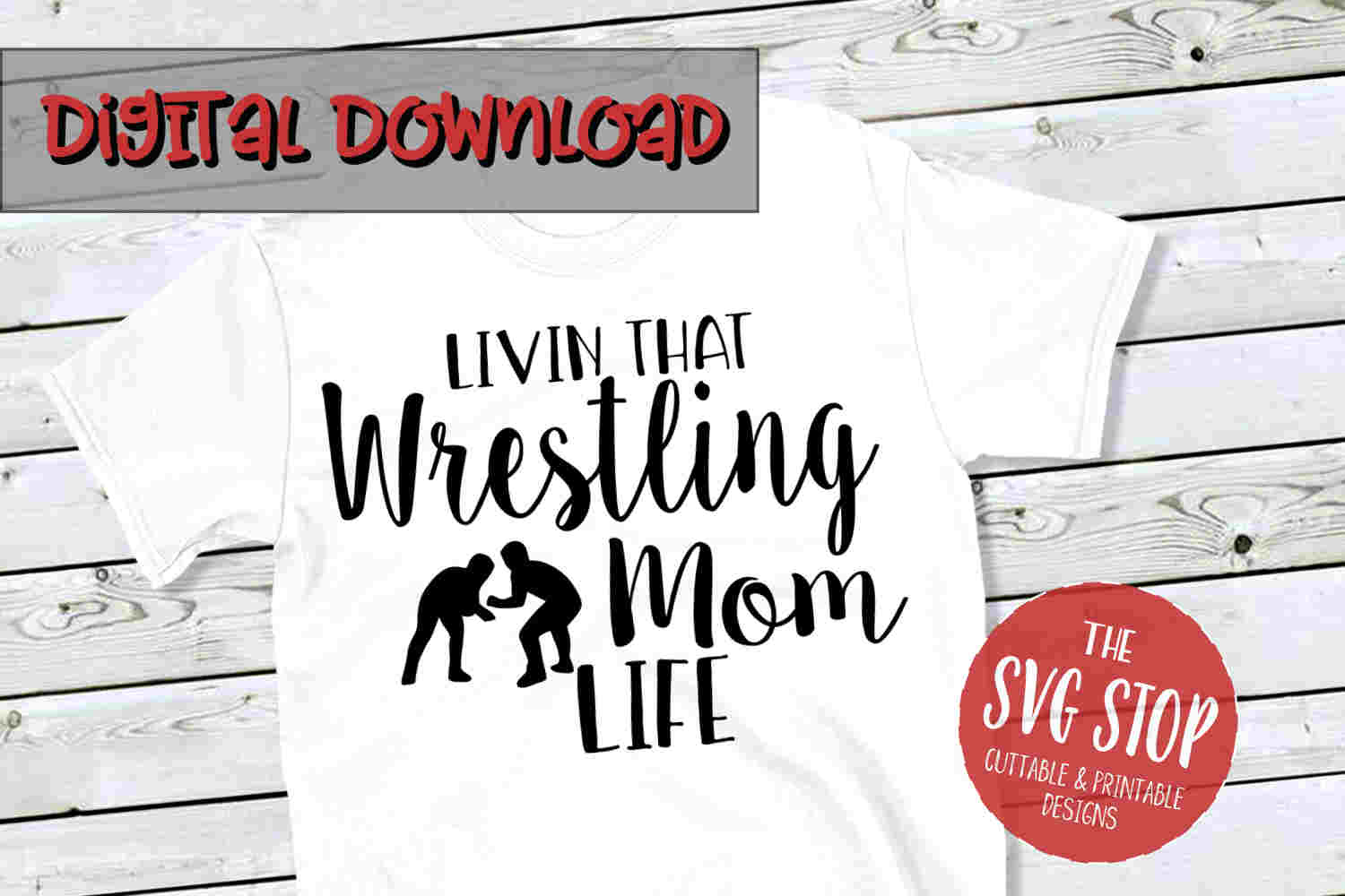Wrestling Mom SVG -SVG, PNG, DXF example image 1