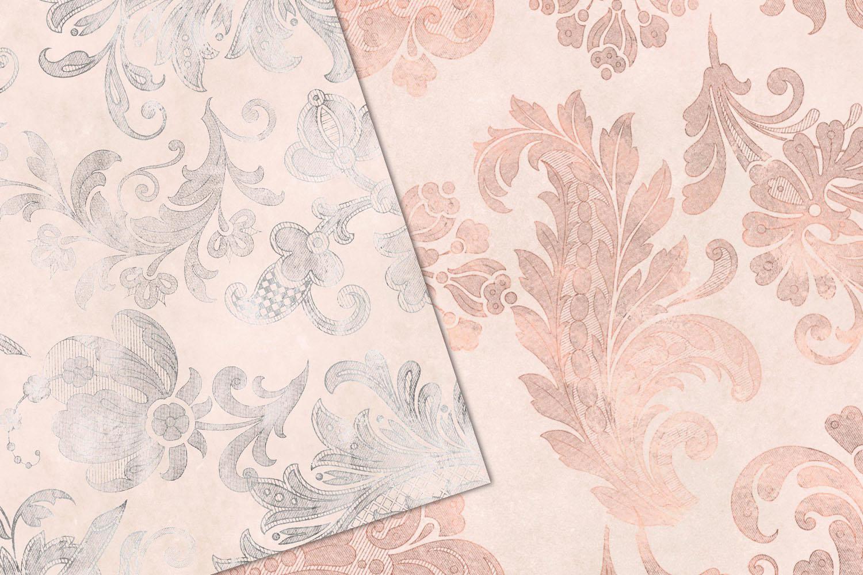Blush Floral Velvet Digital Paper example image 3