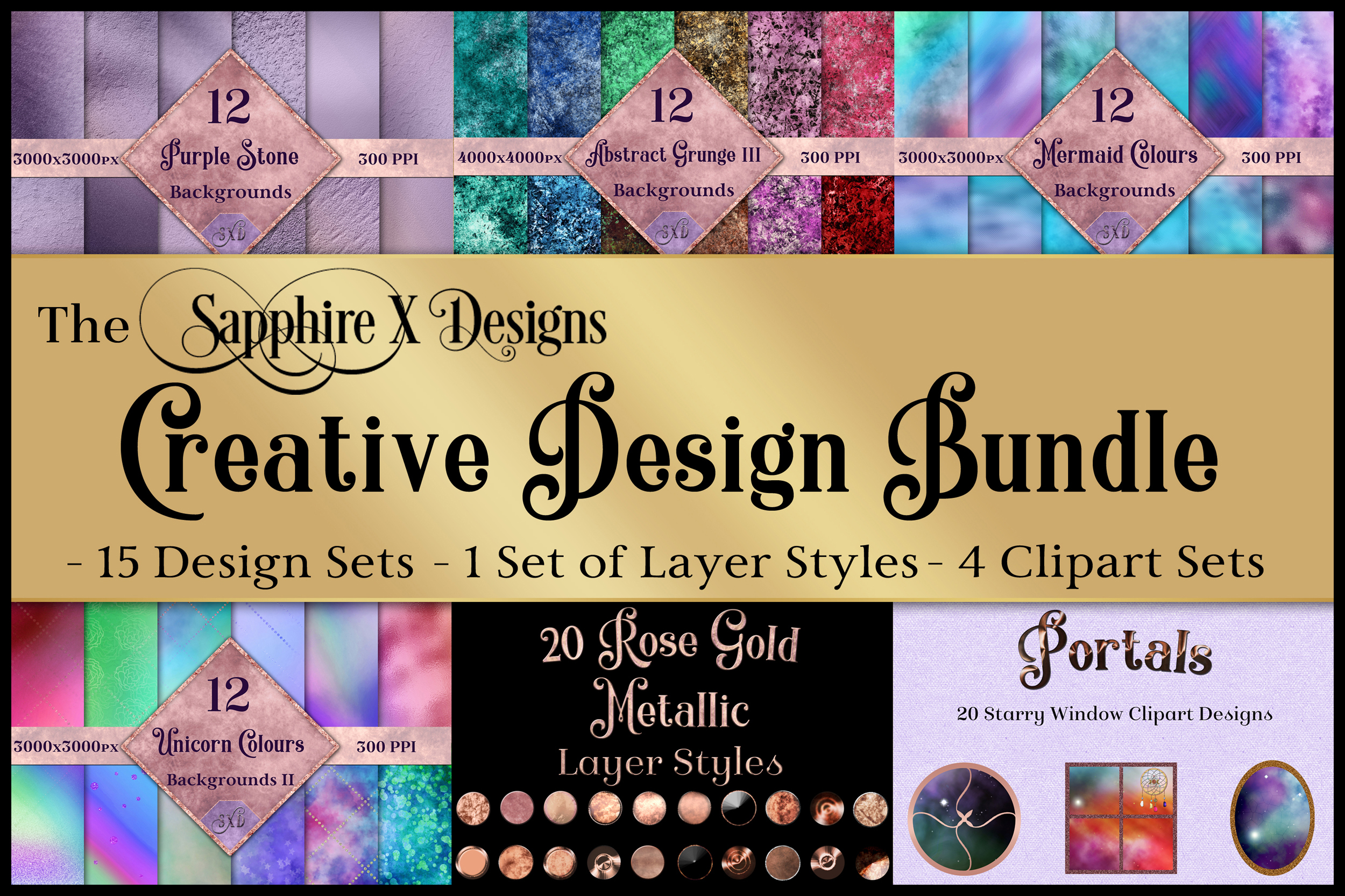 The Sapphire X Designs Creative Design Bundle - 20 Products example image 1