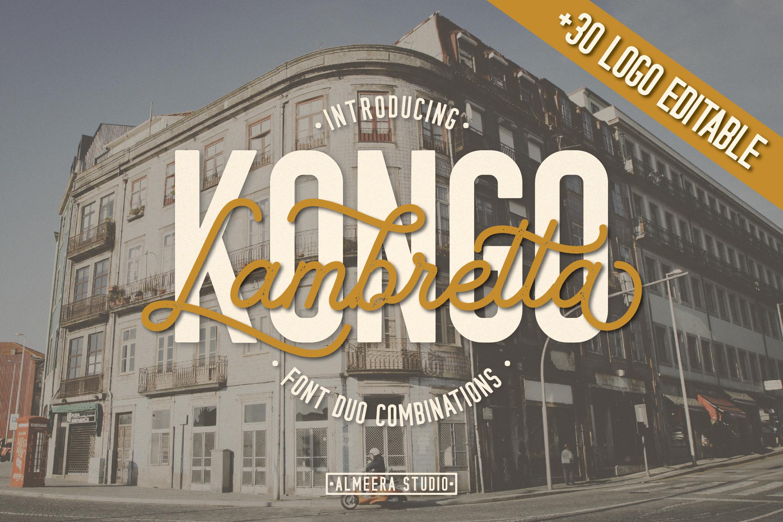 Kongo Lambretta Font Duo example image 1
