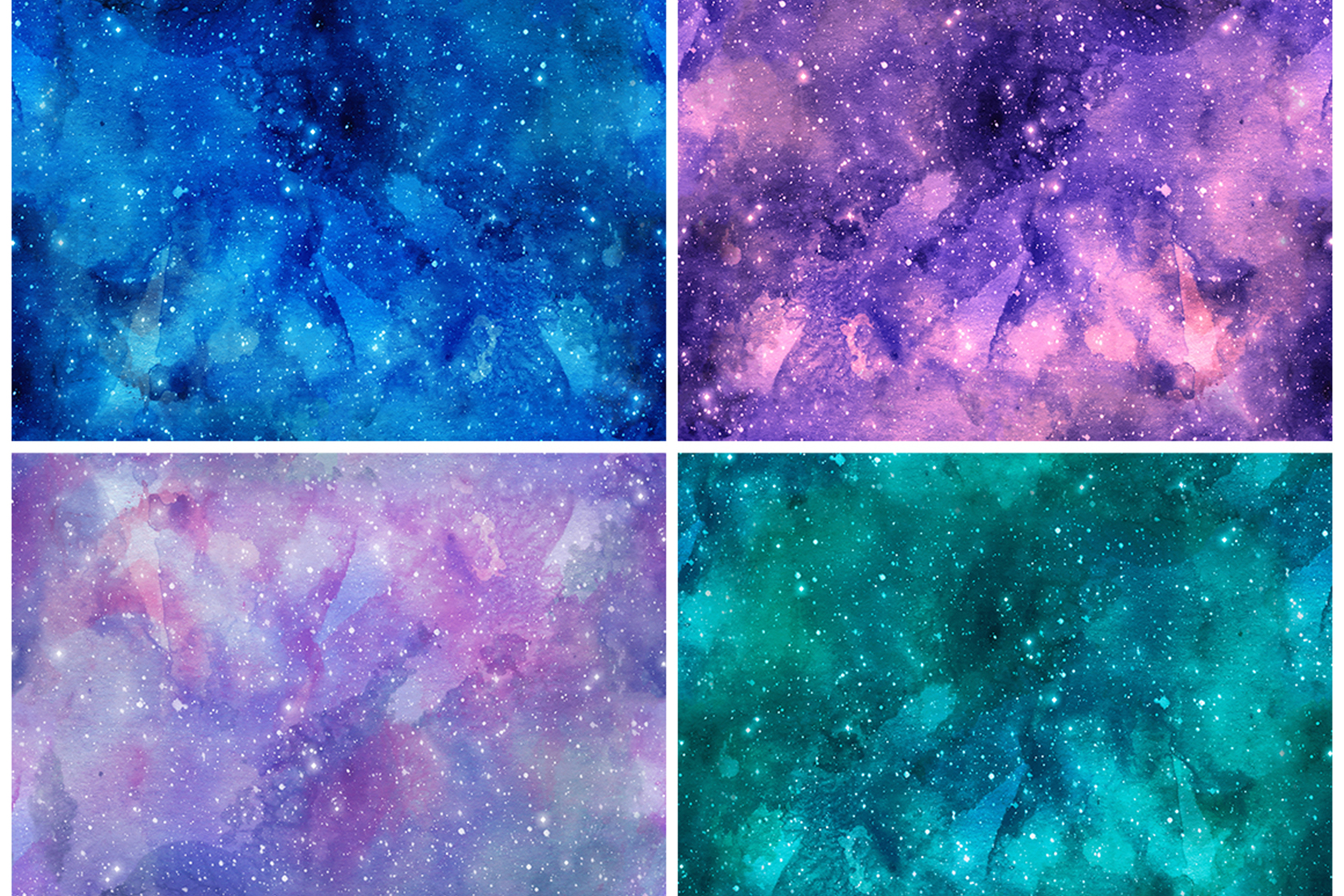 Watercolor Space Seamless Textures example image 3