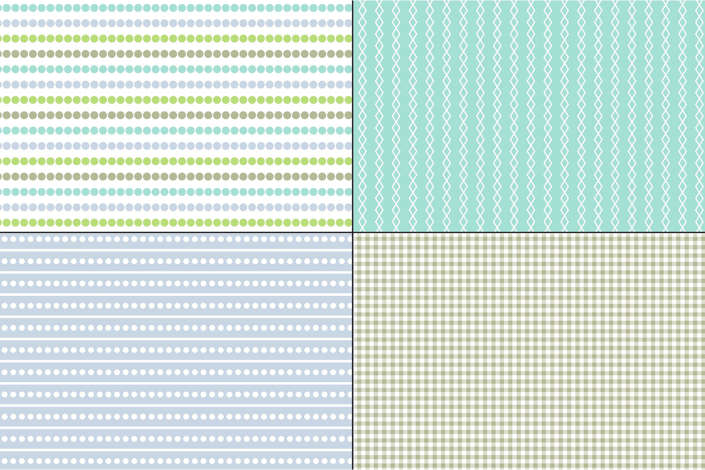 Blue Green Stripes & Plaids example image 4