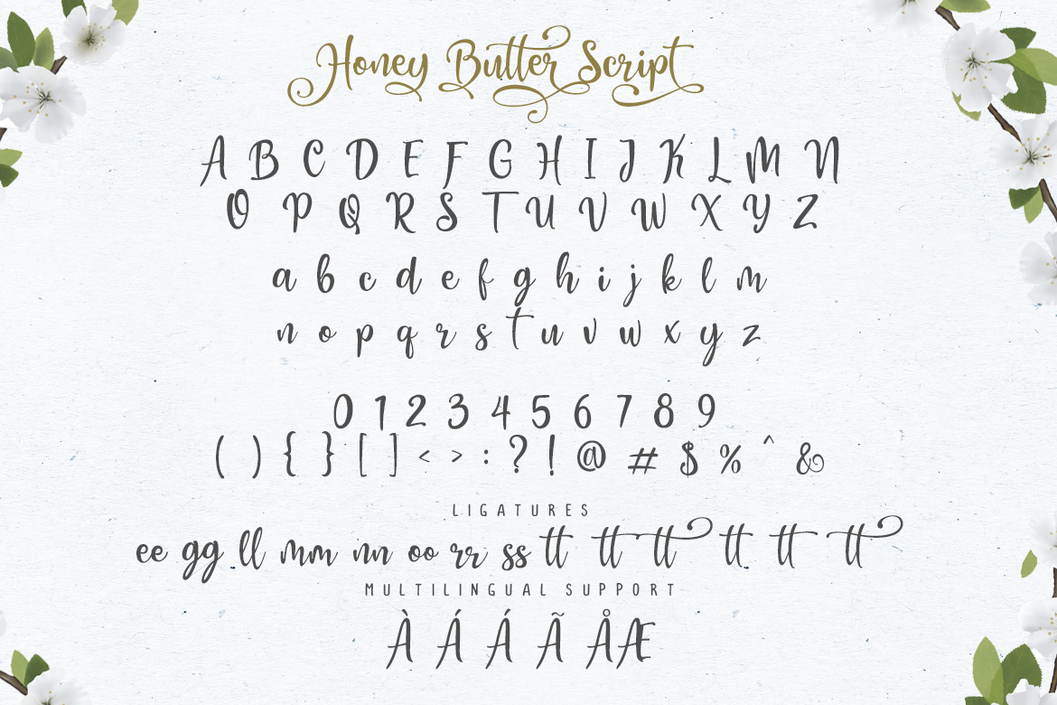 Honey Butter Font Trio & 260 Vectors example image 5