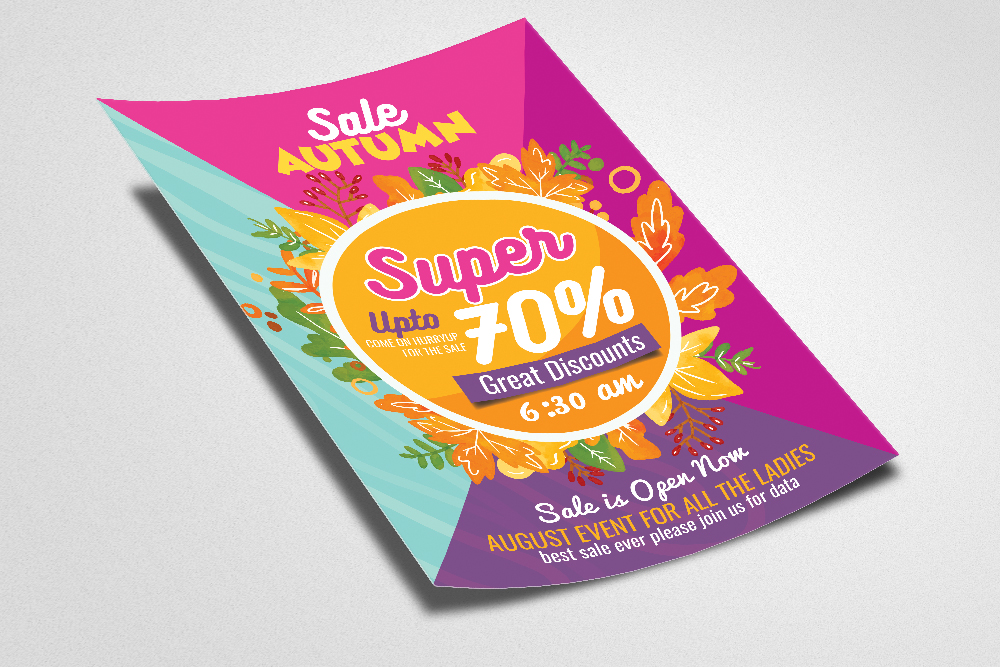 Autumn Big Sale Offer Flyer Template example image 2