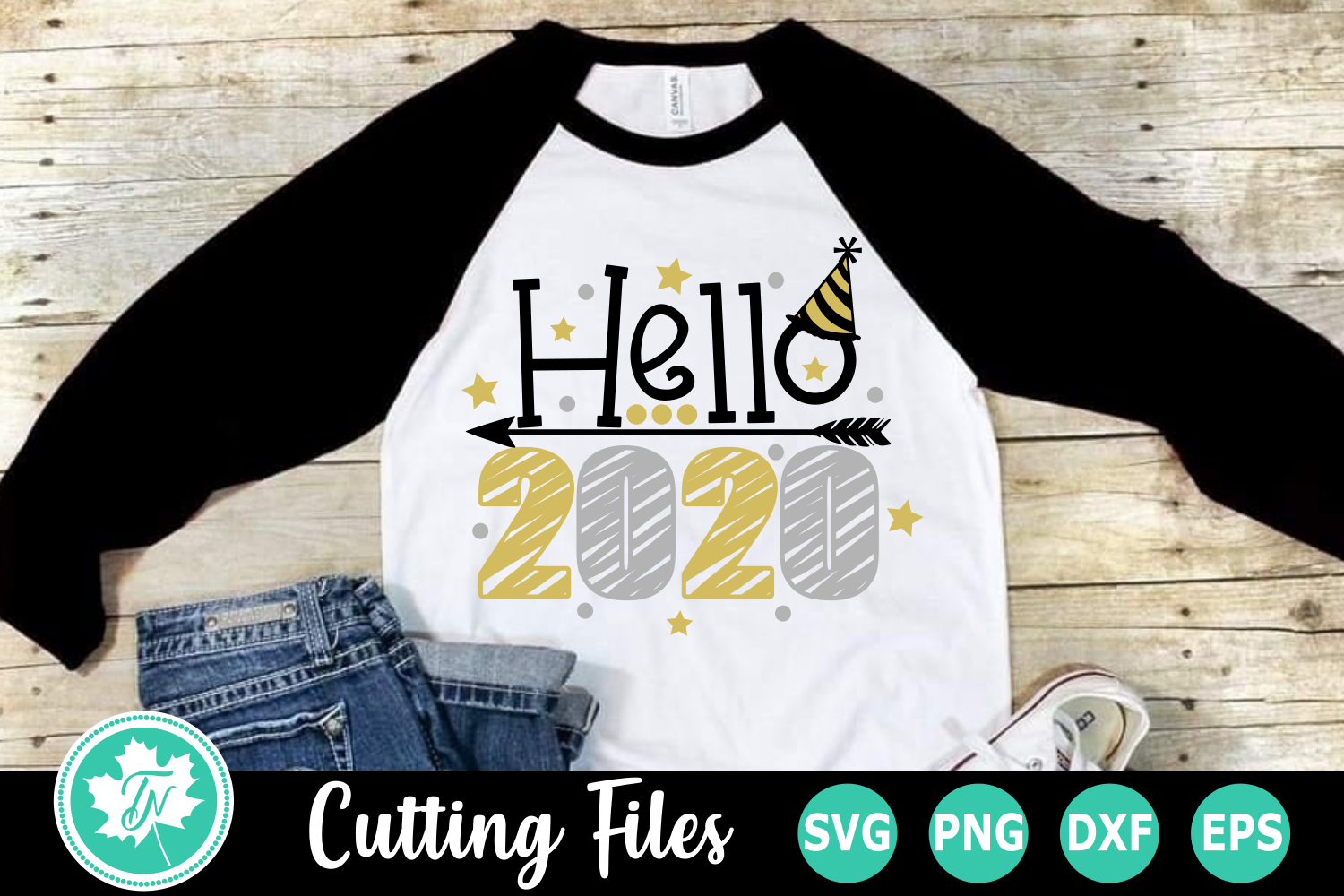 Helo 2020 - A New Year's SVG Cut File example image 1