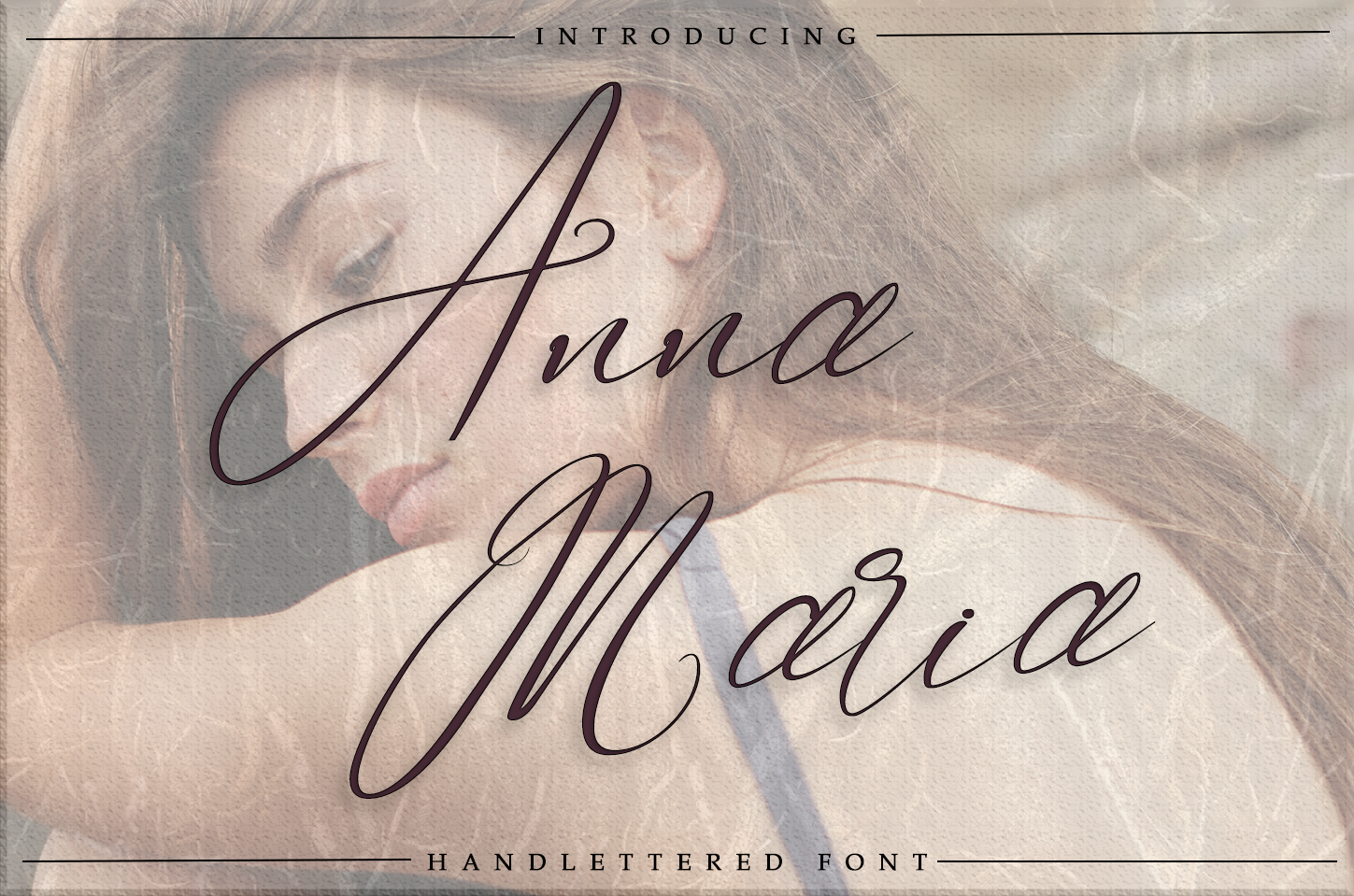 Anna Maria - Handlettered font example image 1
