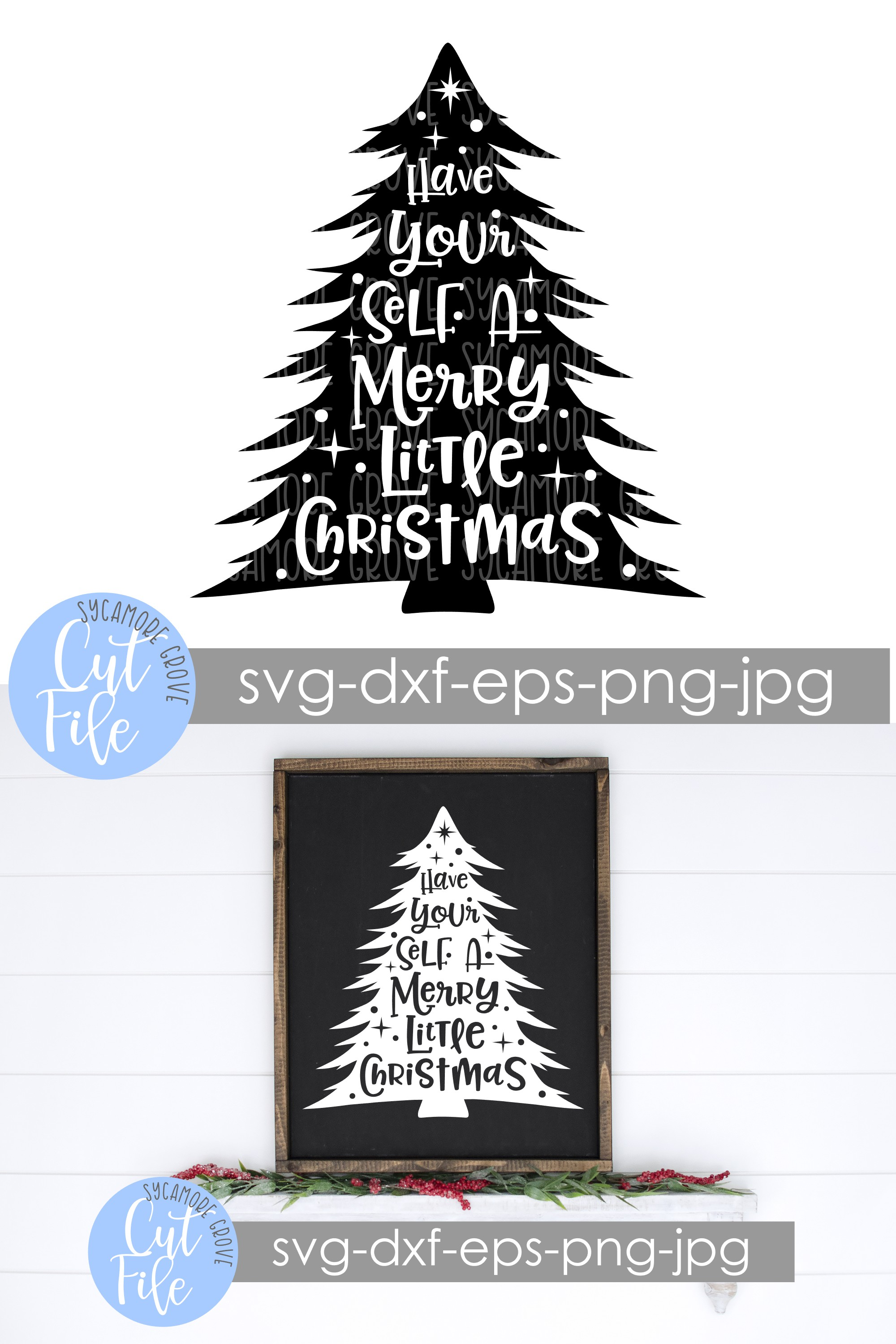 Have Yourself A Merry Little Christmas SVG example image 6