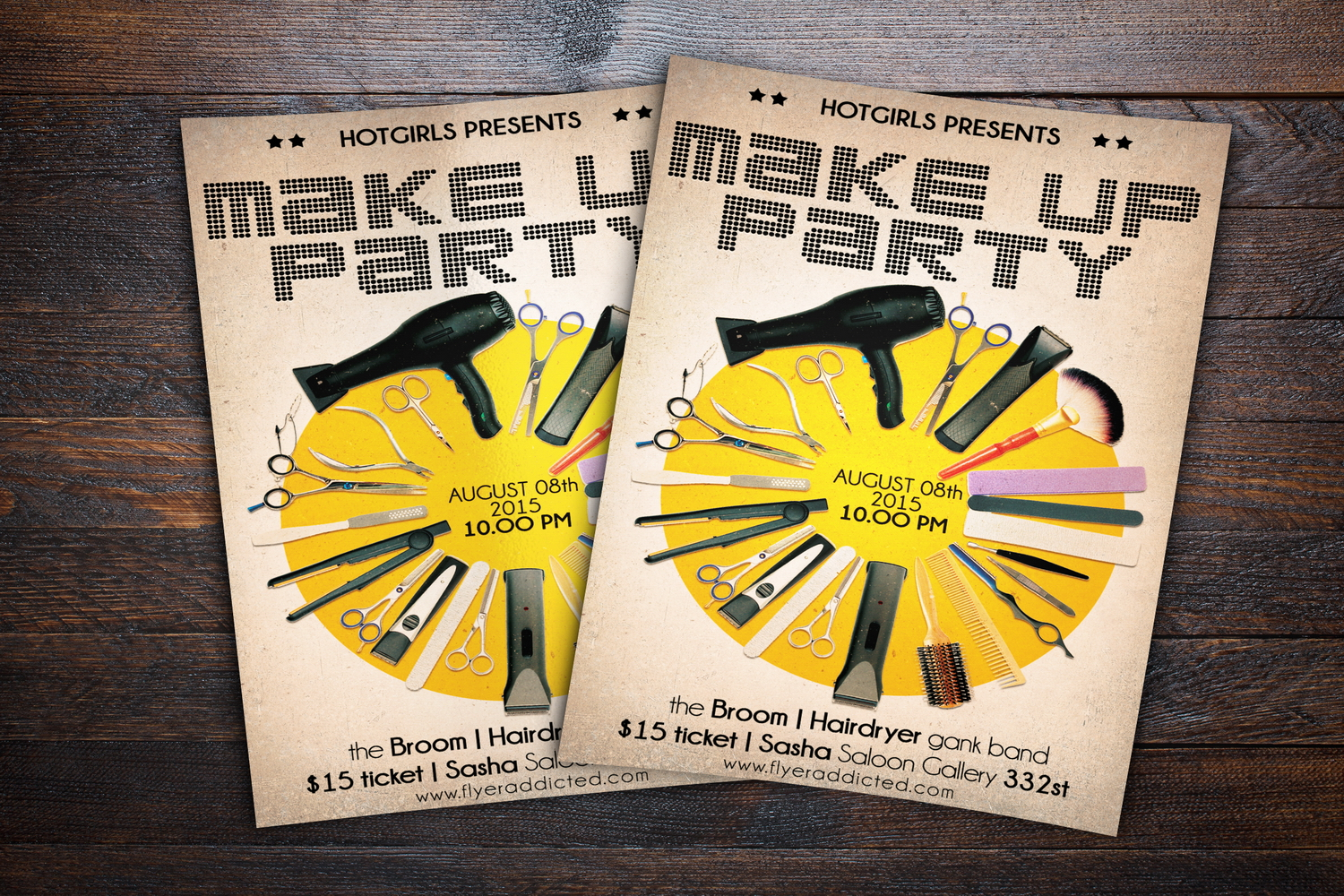 Make Up Party Flyer example image 2