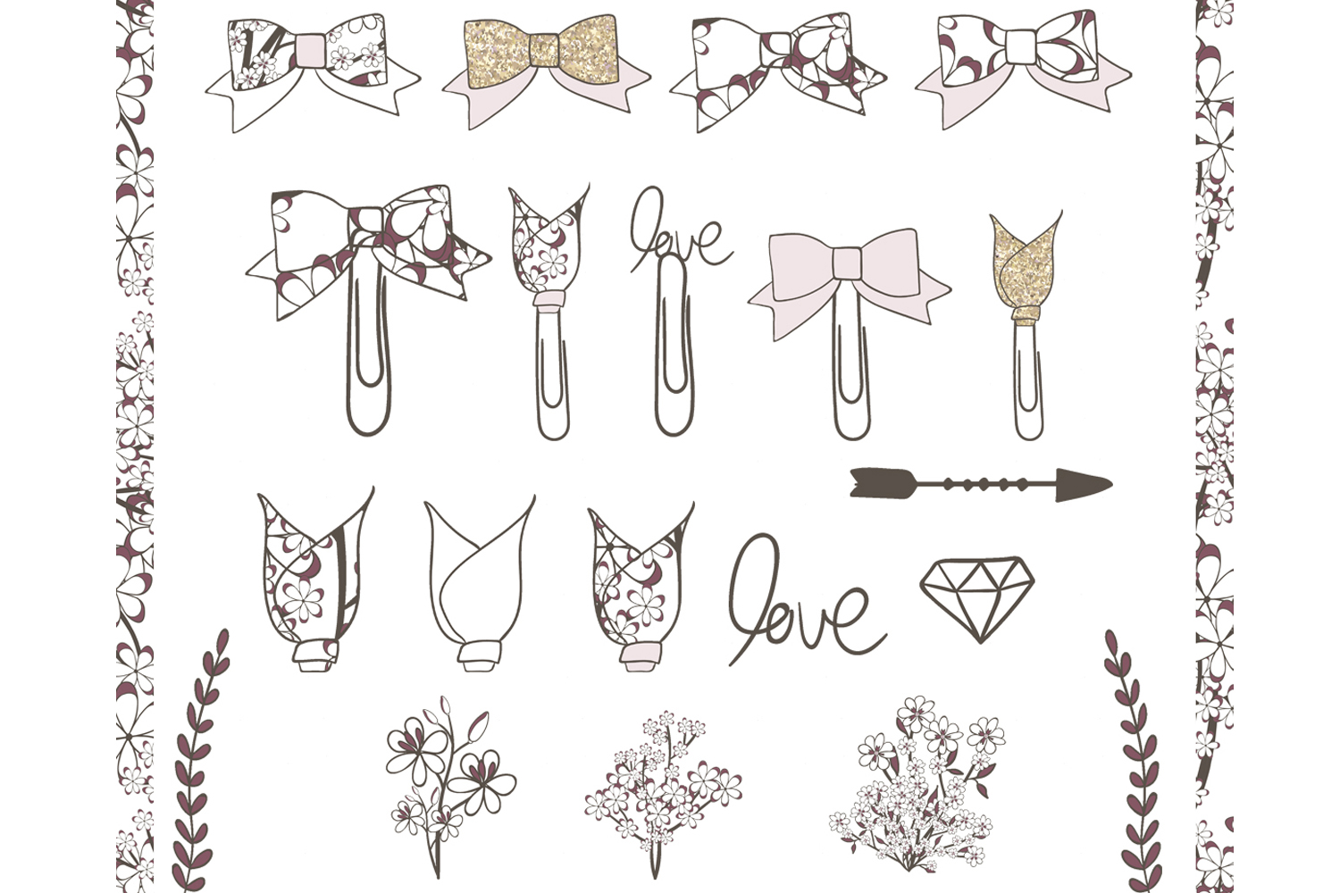 Planner Girl Clipart example image 3