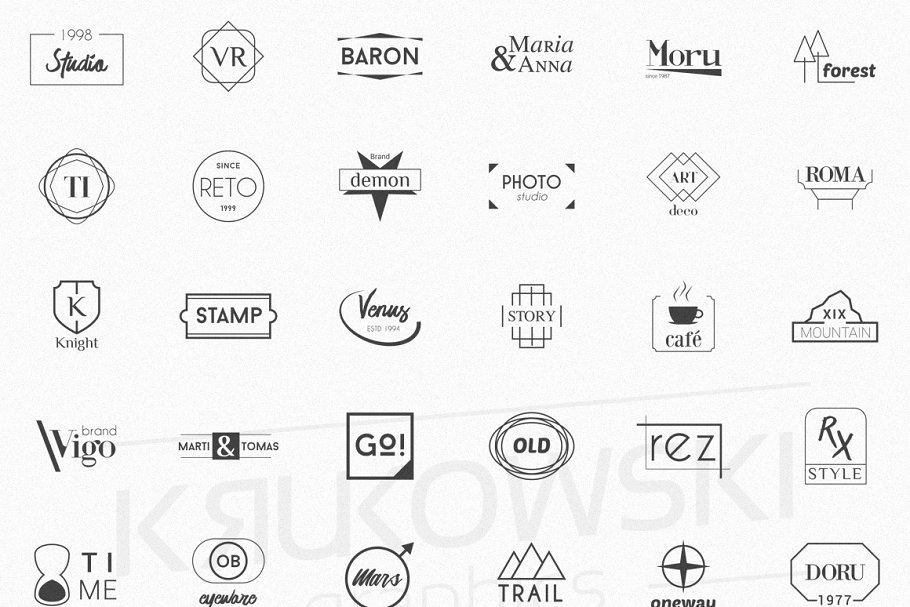 Minimalist Logos - Bundle Set example image 3