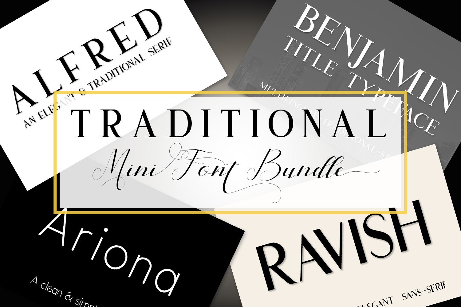 Traditional Mini Font Bundle example image 1