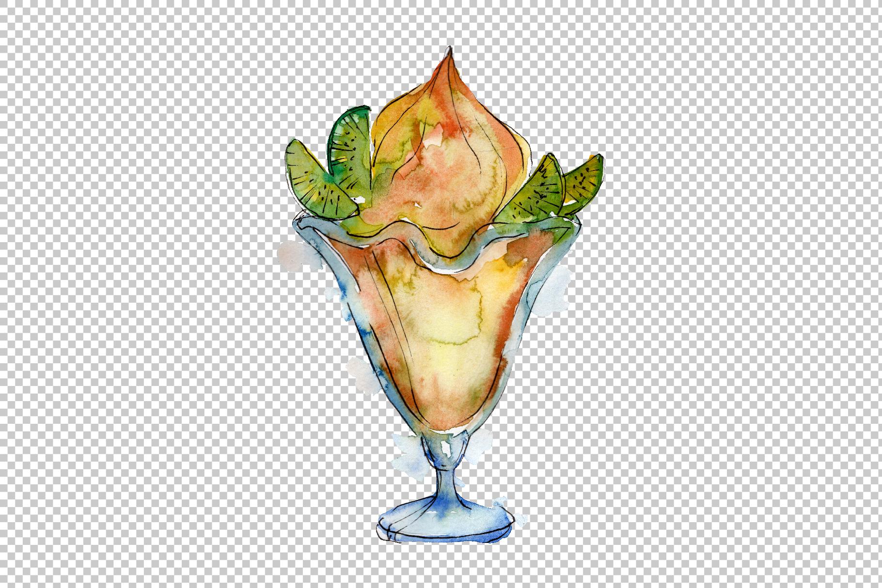 Ice cream Malvina Watercolor png example image 2