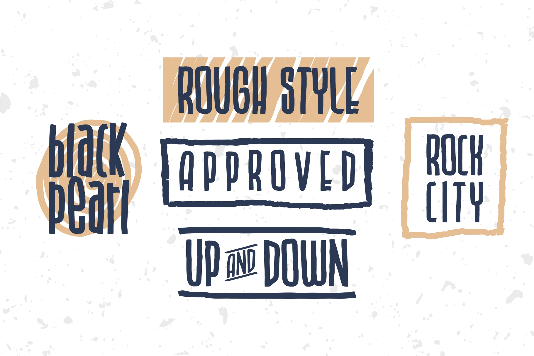 BLU CAPTAIN ROUGH FONT example image 4
