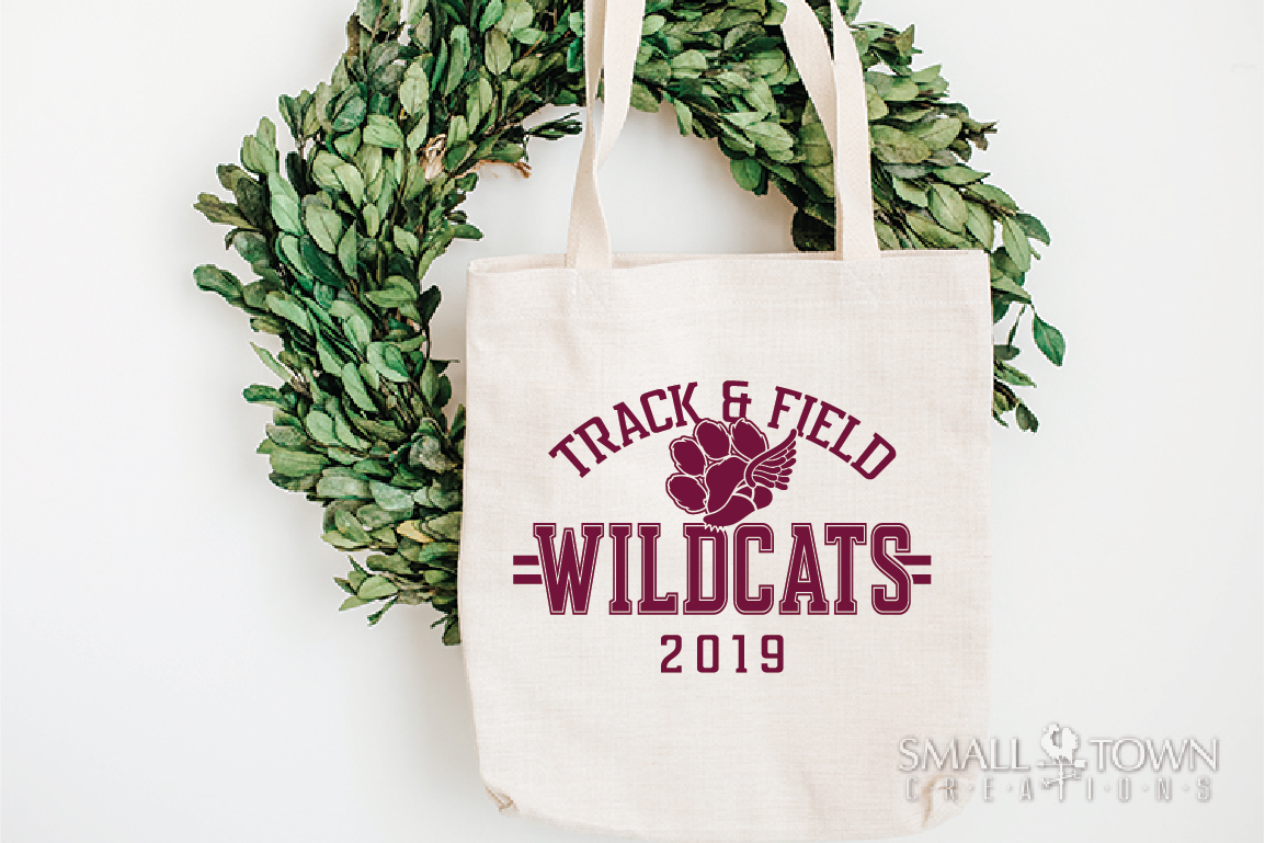 Wildcats Track and Field, Wildcat mascot, PRINT, CUT, DESIGN example image 4