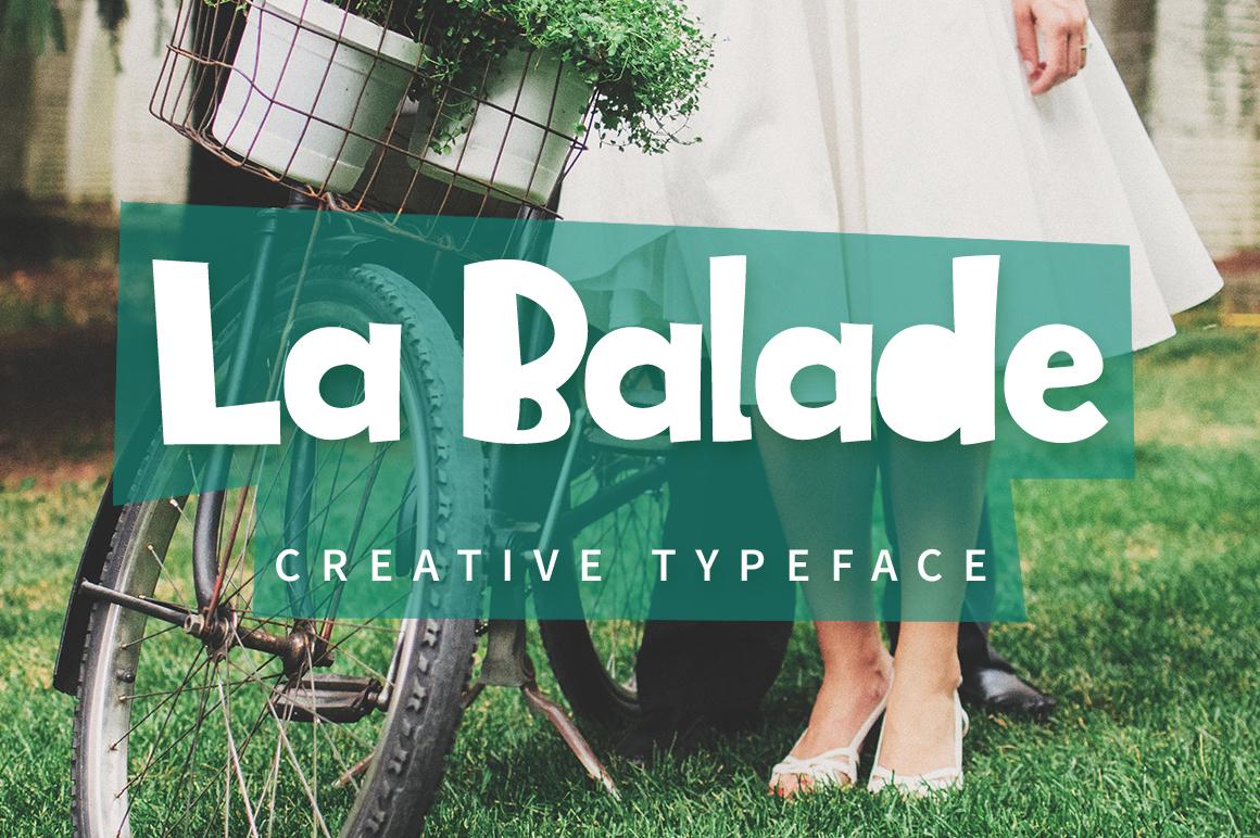 La Balade - Creative Typeface example image 1