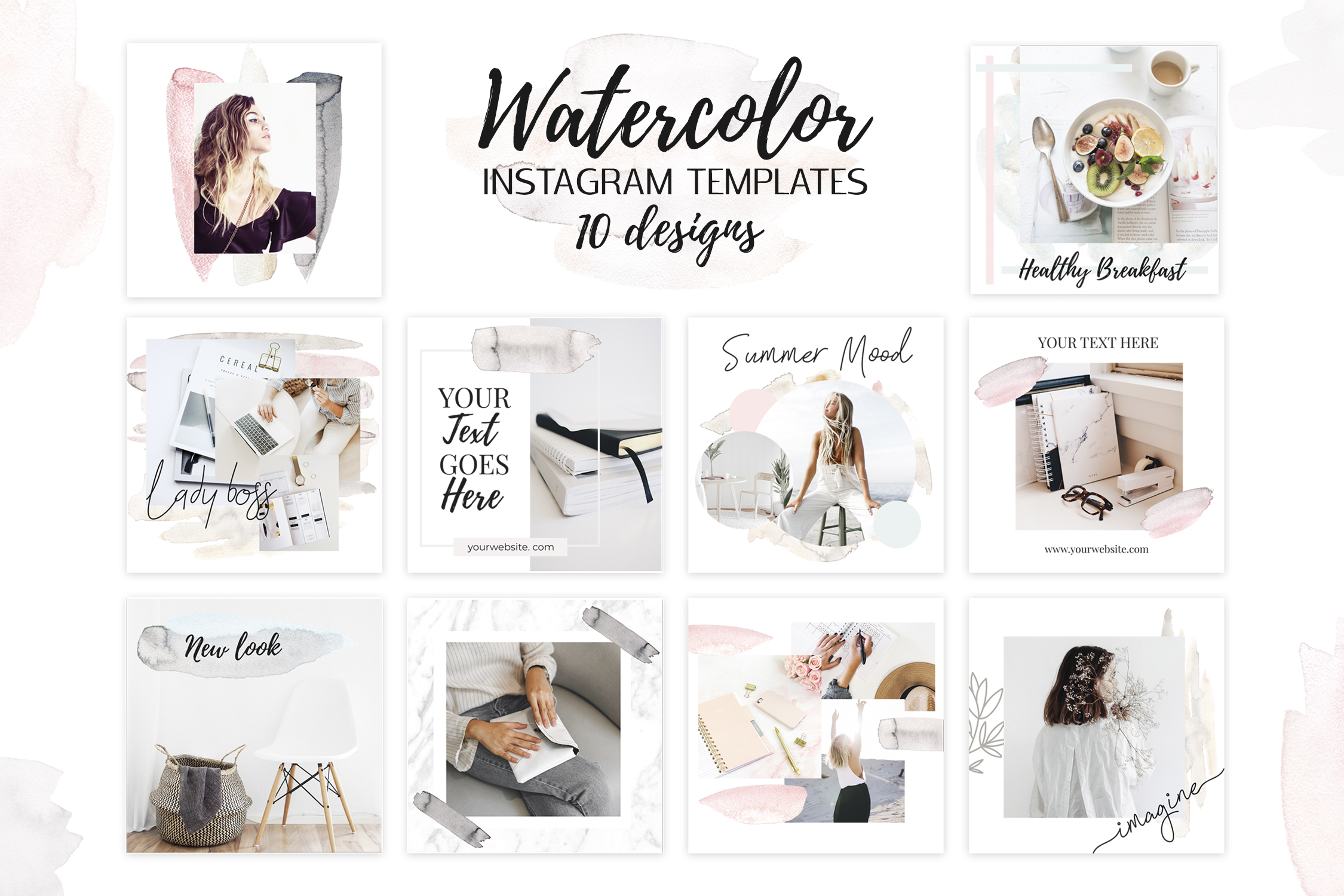 Gorgeous Watercolor Design Kit example image 11