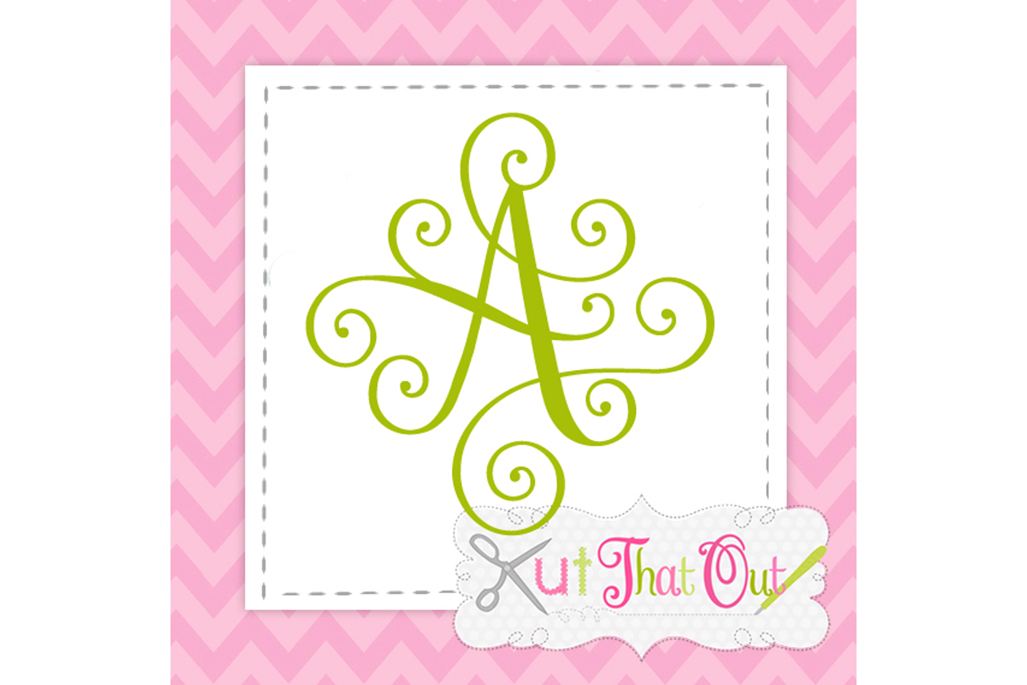 EXCLUSIVE Elegant Scroll Monogram Font SVG & DXF Cut File example image 1