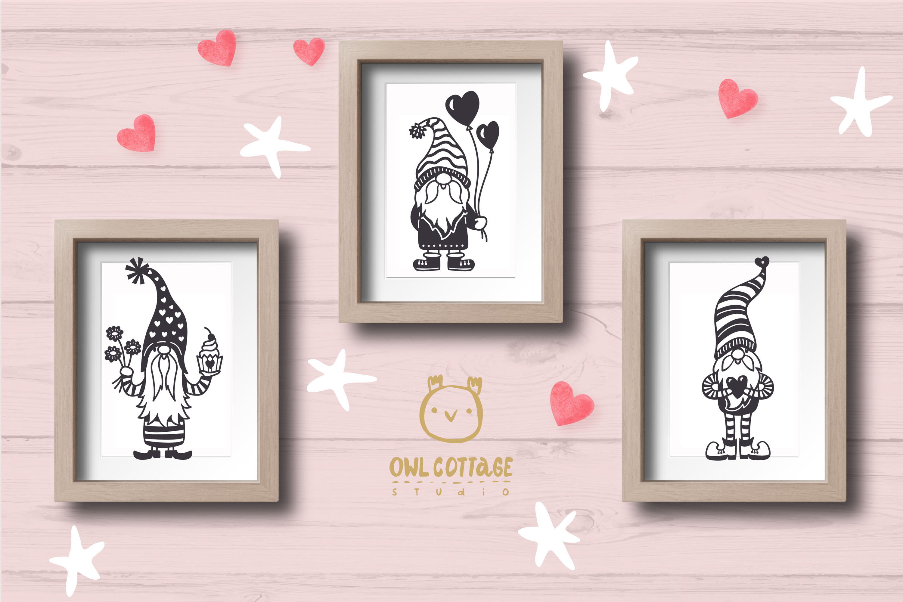 Valentine Gnomes, Gnome Holding Heart Svg, Valentine's Day S example image 11