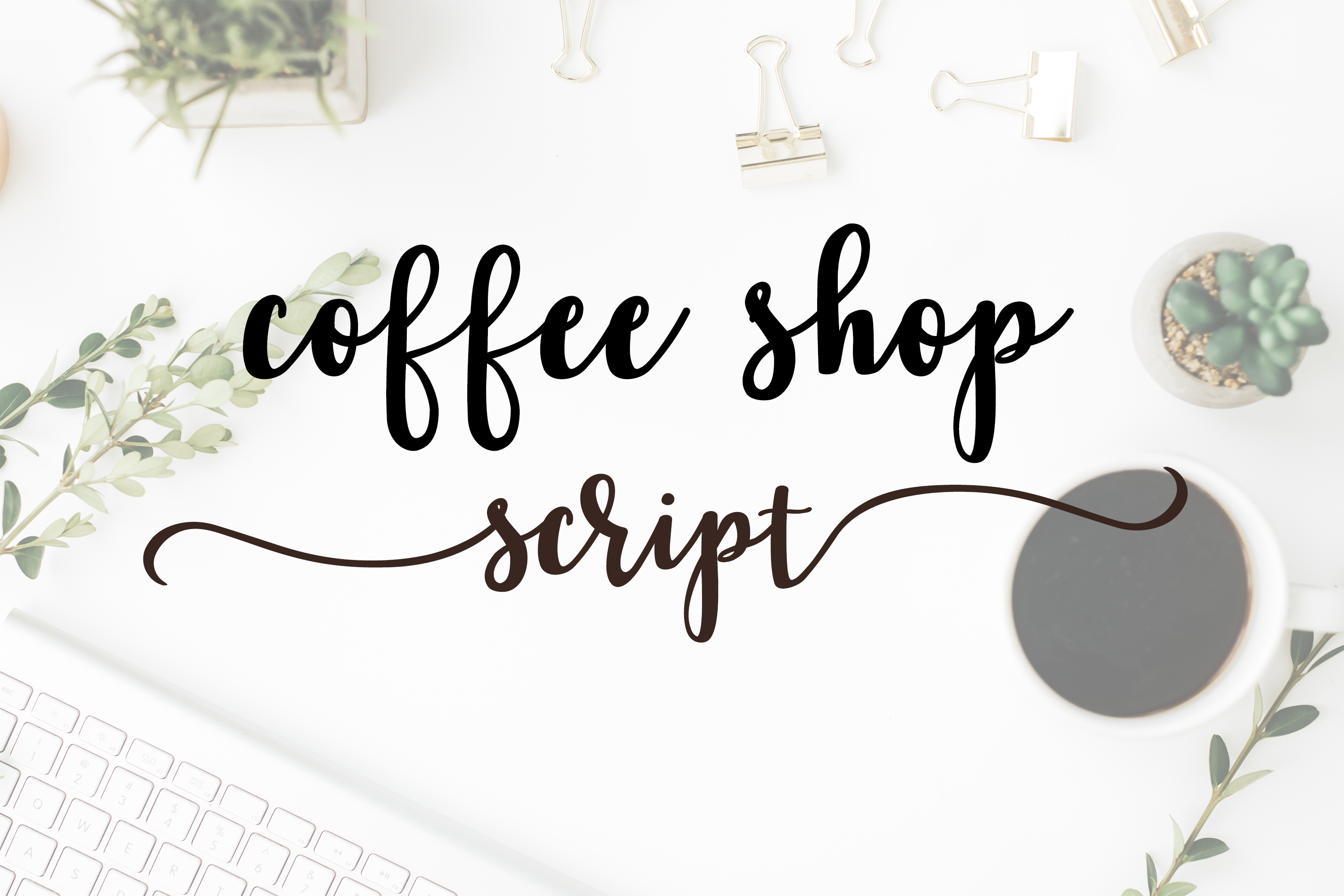 Coffee Shop Script a cursive brush font with lots of extras example image 8