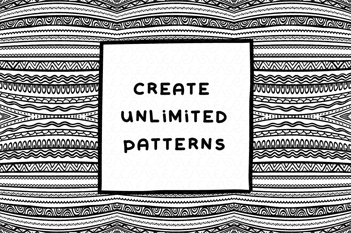 Vector Brushes - Handmade Tribal Style Graphics example image 14