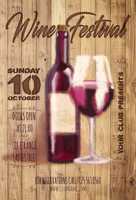 Wine Festival Flyer example image 5