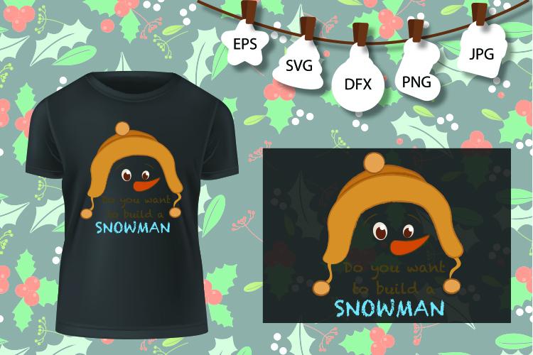 Snowman svg, Christmas snowman svg, let it snow, Christmas example image 1