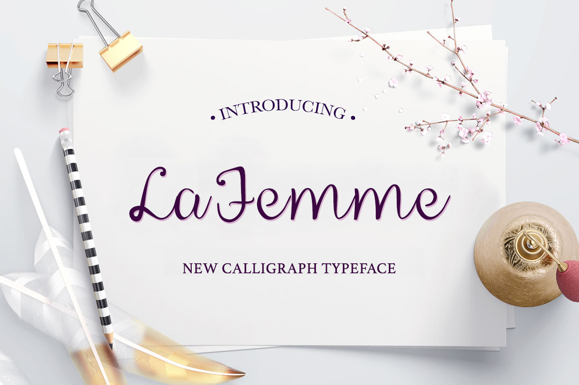 La Femme Script example image 1