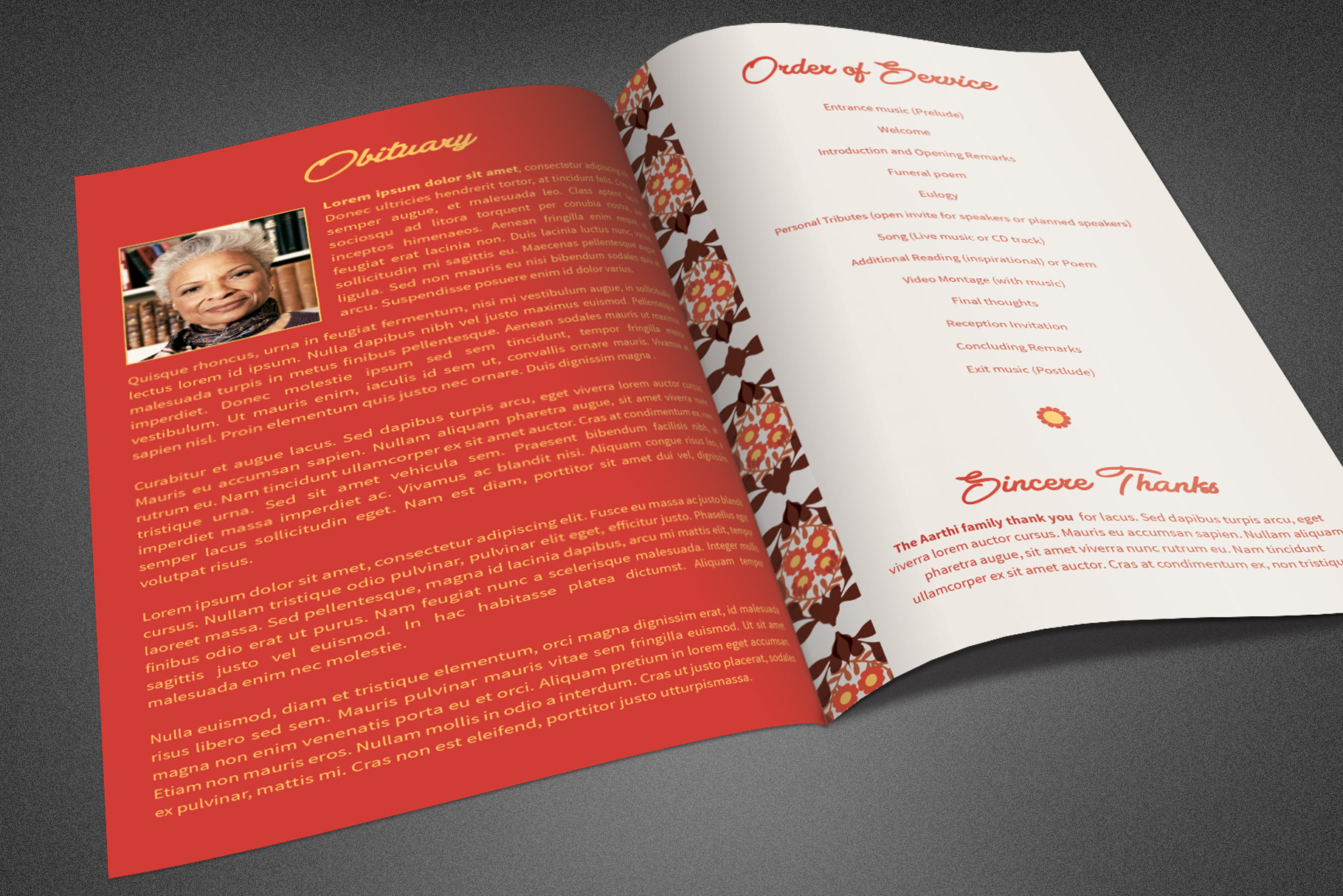 Delicate Funeral Program Template example image 3