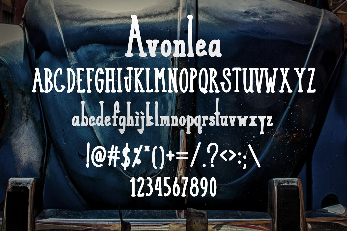 Avonlea Retro Font example image 2