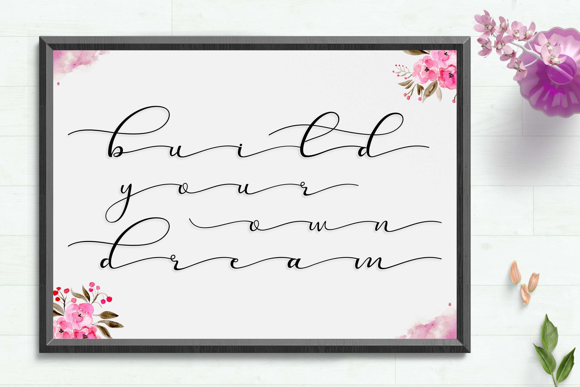 Sehia Script Calligraphy & Monoline example image 4