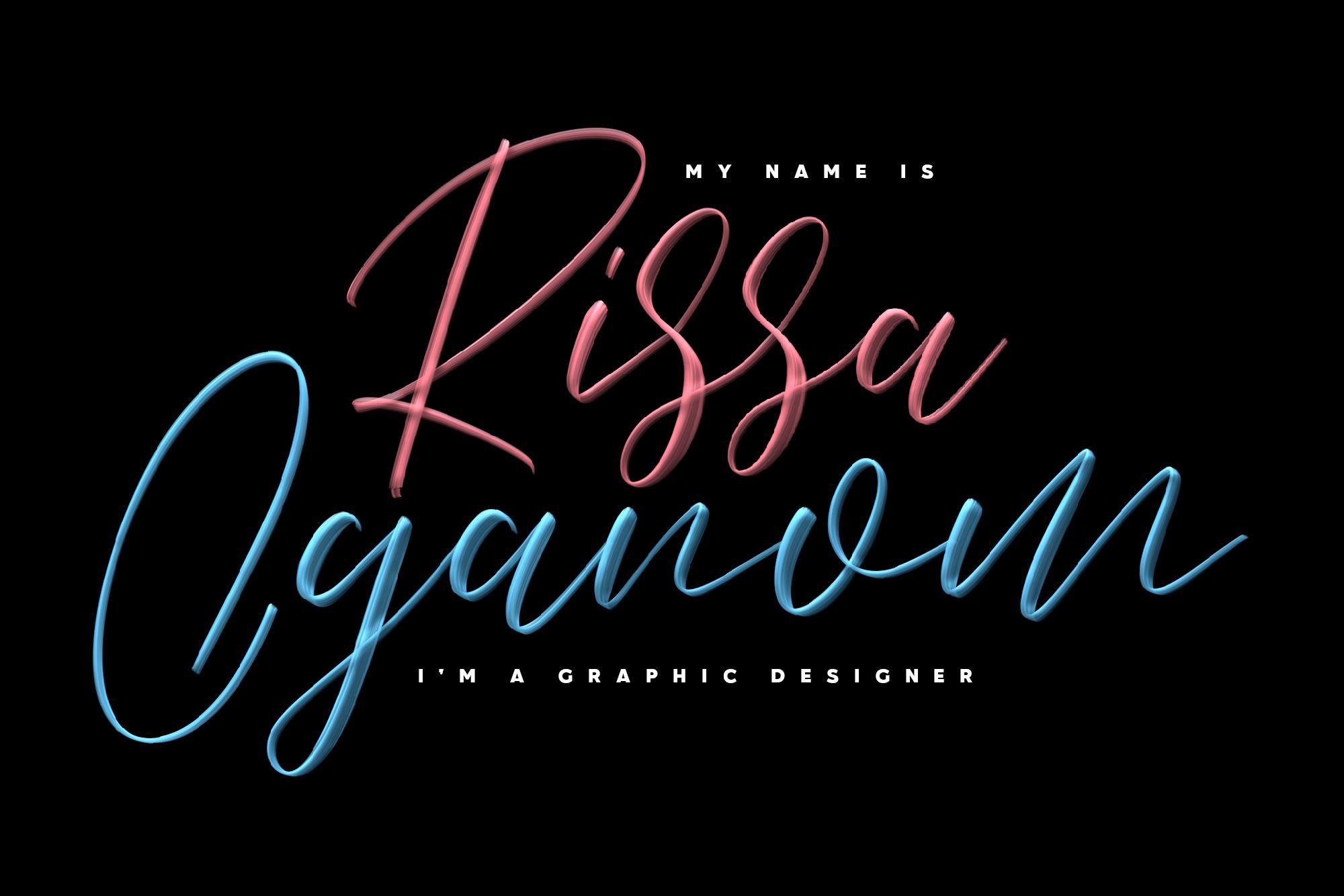 Love Brush SVG Font - Free Sans example image 3