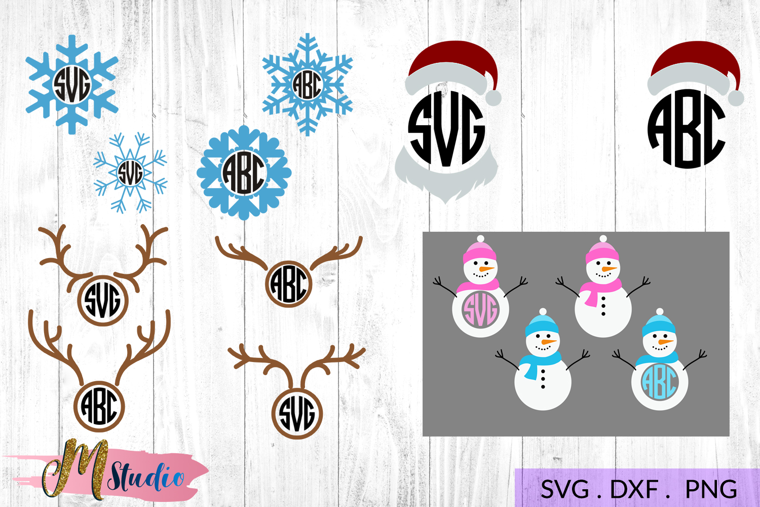 The big christmas svg bundle, Christmas SVG Cut File. example image 9